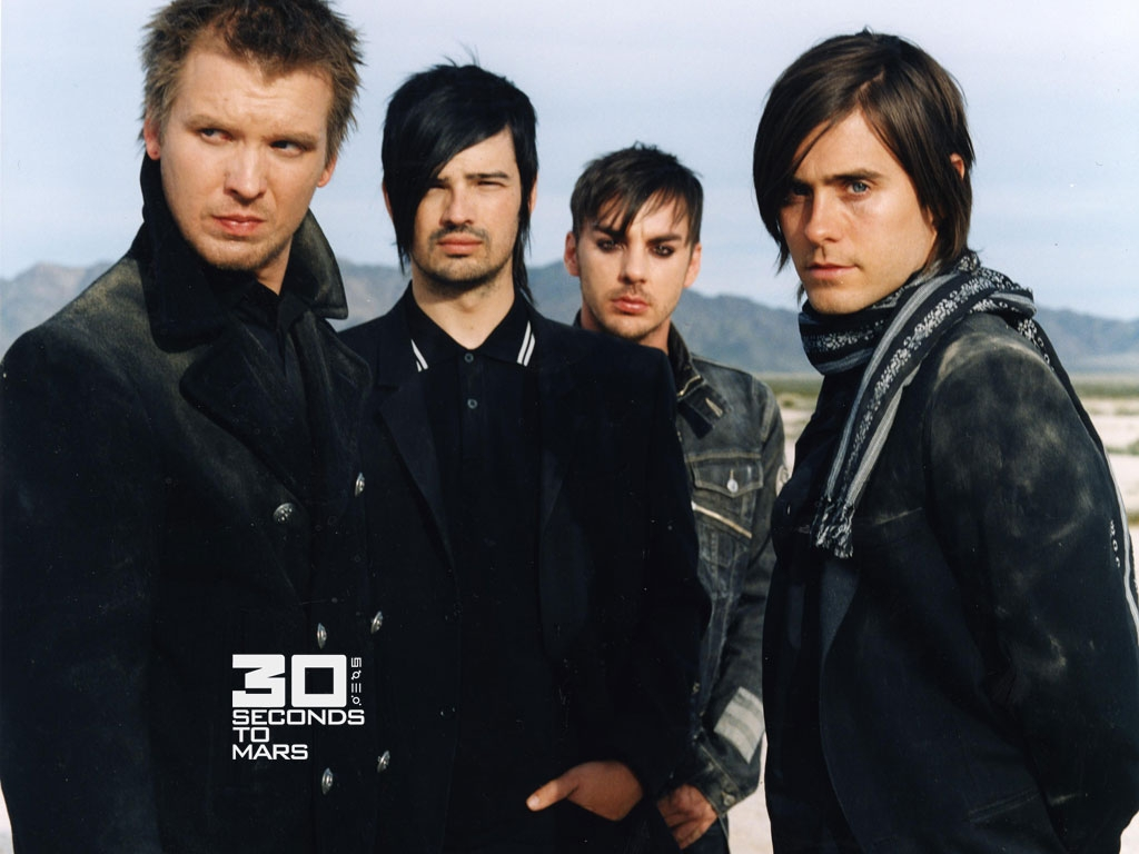 Matt Wachter, Tomo Milicevic, Shannon Leto y Jared Leto - 30 Seconds to Mars